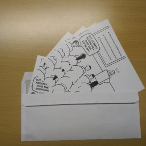 Postkartenprotest mehrere Postkarten