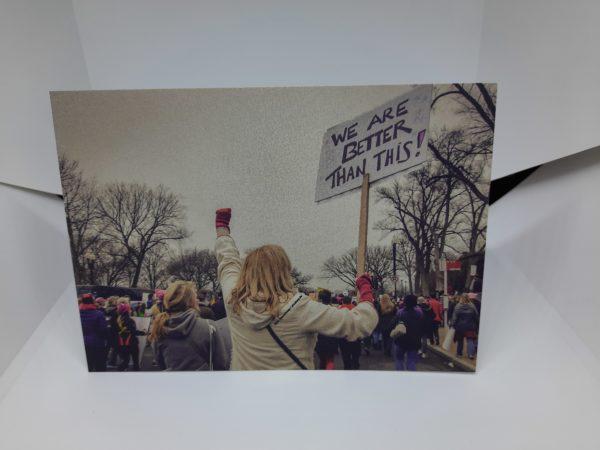 Protestpostkarte-Motiv-Protestschild